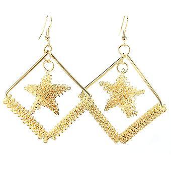 Cradled Star Earrings