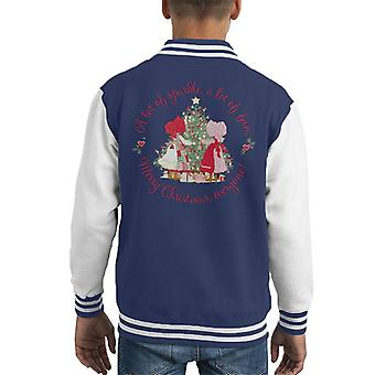 Holly Hobbie Christmas Sparkle og Fun Kid's Varsity Jacket