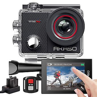 Akaso ek7000 pro 4k action camera with touch screen eis adjustable view angle 40m waterproof camera