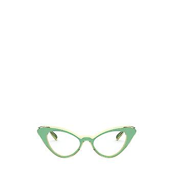 Vogue VO5317 top green / transparent beige female eyeglasses