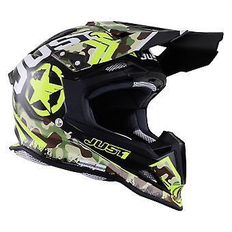 Just 1 J12 Carbon MX Helmet Kombat Yellow
