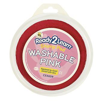 Jumbo Circular Washable Stamp Pad, Pink