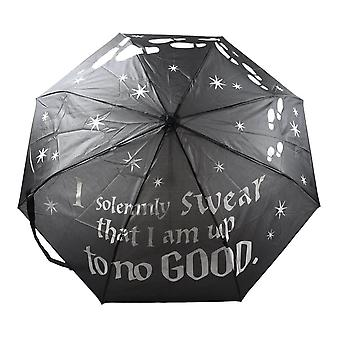 Harry Potter Mischief Managed Liquid Reactive Umbrella