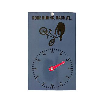 Gone Riding Clock Face - BMX