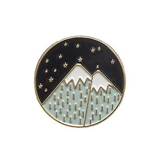 Outdoors Adventure Enamel Pins Wild Hiking Travel Brooches Collection Bois de chauffage