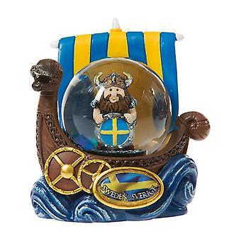 Snøklode Souvenir Vikingskip Viking med skjold