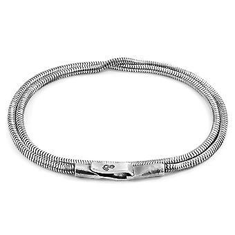ANCHOR & CREW Gallant Dobbel Seil Sølv Kjede Armbånd