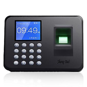 SHANGBAO A206 Fingerprint Attendance Machine Chinese And English Card Machine Color 2.4 inch LCD Scr