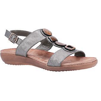 Fleet & Foster rosa womens ladies wedge sandals grey UK Size