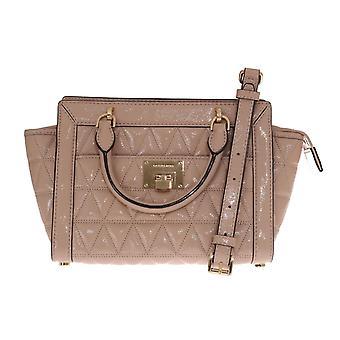 Michael Kors Beige Vivianne Patent Shoulder Bag