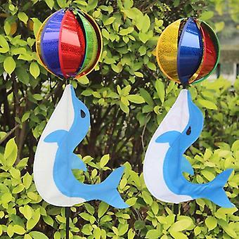 Rainbow Cute Cartoon Animal Dolphin Winnower Kids Toy