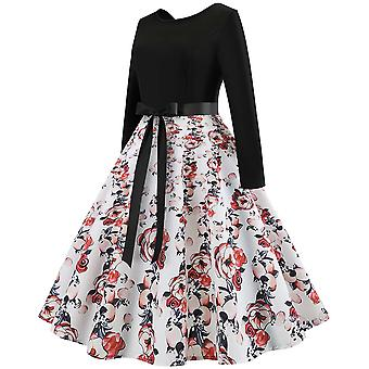 Rockabilly Vintage Flared Party Dress Womens Clothing Boho Ball Spring Autumn Formal Evening Gown Cocktail Dresses