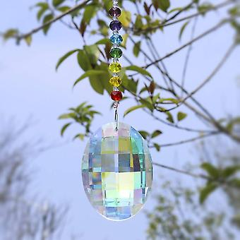 H&d Chakra Crystal Suncatcher Ornament Home Garden Decor