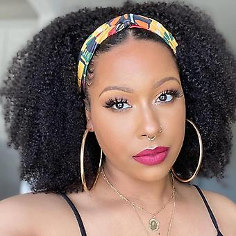 Scarf Wig 250% Density Afro Kinky Curly Headband Wig