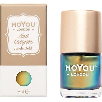 MoYou London Stamping Nail Lacquer - Jungle Gold 9ml (MN003)