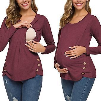 Women&Apos;s Terhesség Hosszú ujjú ápolási felsők