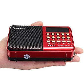 Handheld Digital Fm Usb Tf Mp3 Player  (with Battery)