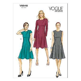 Vogue Coser patrones 8848 Misses Vestido Tamaño 6-14