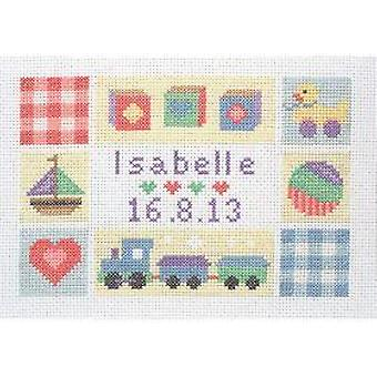 Anchor Counted Cross Stitched Kit ACS42 Baby Sampler New 16x23cm