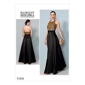 Vogue coser patrón 1534 se pierde vestido forrado tamaño 14-22 Sin cortar