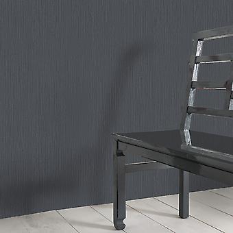 Elle Decoration Plain Textured Wallpaper Dark Grey 1017115