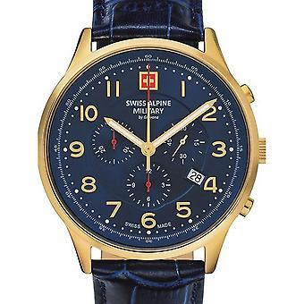 Herre Watch schweiziske militær 7084.9515, Kvarts, 43mm, 10ATM