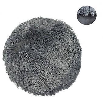 pillow Shaggy round 38 cm textile anthracite