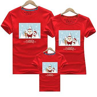 Hyvää joulua Perhe Yhteensopivat vaatteet, Äiti Vauva T-paita