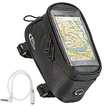 tectake Cykeltaske til smartphone - sort, 20,5 x 10 x 10,5 cm