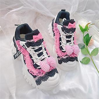 Style Platform Sko, Sweet Sneakers Kawaii Sko