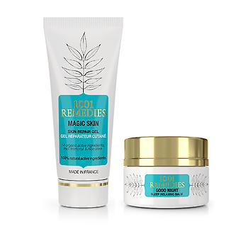 Beauty & sleep gift set  - acne spot cream & sleep balm for anxiety and stress relief,100% natural & vegan, made in france
