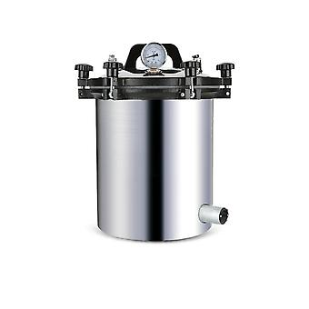 Portable Stainless Steel Sterilization Pot, Pressure Steam Sterilizer Autoclave