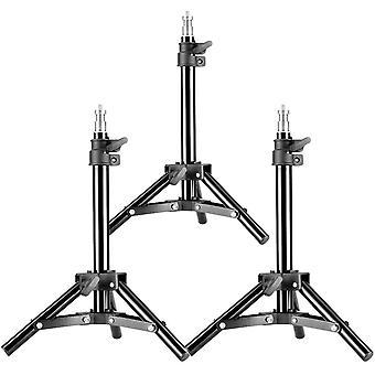 """3er Set Mini-Aluminium-Fotografie Lichtstative mit 32 """"/ 80cm Max Höhe für Reflektoren, Softboxen ,"""