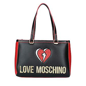Love Moschino JC4256PP0BKJ0, Women's SHOULDER BAG, Black, Normal