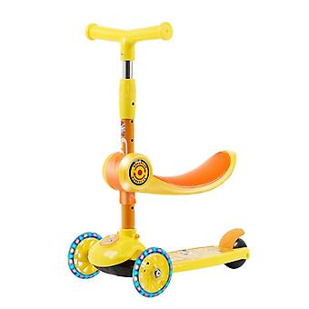 Child Scooter Two Modes 3 Wheels Scooters Led Shine Balance Bike Adjustable