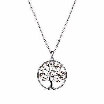 Gaia - Tree Of Life Icons Pendant - 40cm +3cm extender - Gold - Jewellery Gifts for Women from Lu Bella