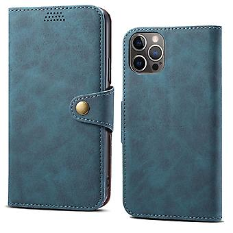 Wallet leather case card slot for iphone 12/iphone 12pro 6.1 blue no4798