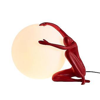 Menneskeformet glaskuglebordlampe, 220V kunstnerbordlampe, Velegnet til stue og soveværelse