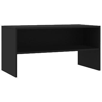 vidaXL TV-kaappi Musta 80 x 40 x 40 cm Lastulevy