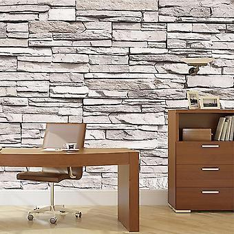 45Cmx10m 3d stone brick art wall paper for bedroom