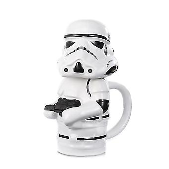 White Soldiers Stereo Mug Large Capacity Water Cup Animation Around Shape Ceramic Cup