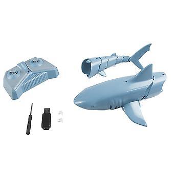 Rc Simulation Shark, wasserdichte elektrische Fernbedienung Boot, Schwimmbad,