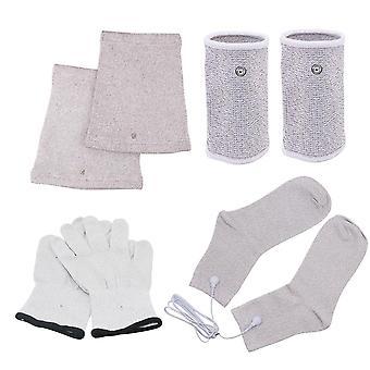 Ems Electrode Treatment Gloves + Socks + Knee Pads + Bracers Acupressure Device
