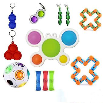 For 21pcs Pack Sensory Toy Set Antistress Relief Fidget Toys WS46195