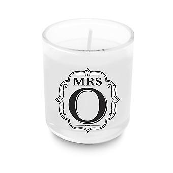Heart & Home Alphabet Votive Candle - Mrs O