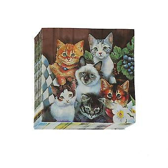 Cat Pet Paper Napkin For Disposable Party Tableware Festive Party Supplies