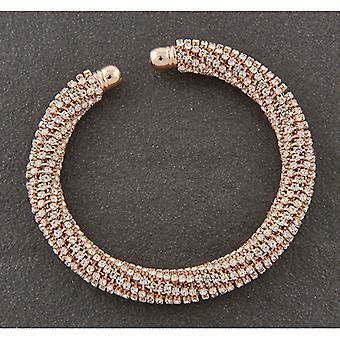 Brazalete sparkle mesh rose gold plateado