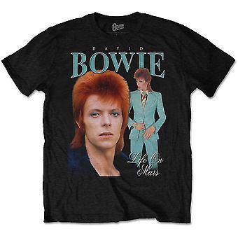 David Bowie - Life on Mars Homage Unisex Small T-Shirt - Nero