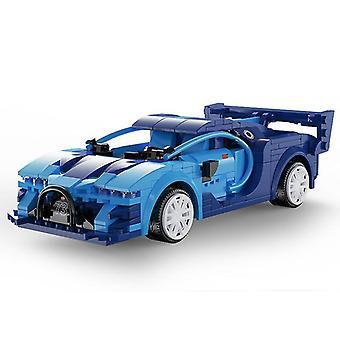 Niebieski aplikacja programowanie zdalnego sterowania samochód sportowy model budulcem techniczne rc wyścigi samochód cegły prezenty zabawki dla dzieci fa1575