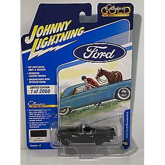 1956 Ford Thunderbird Raven Black Johnny Lightning 1:64 JLCG023B